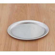 Ovales Serviertablett aus Edelstahl - 20cm