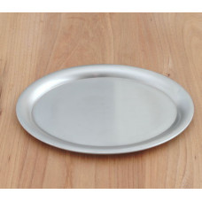 Ovales Serviertablett aus Edelstahl - 23cm