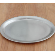 Ovales Serviertablett aus Edelstahl - 26.5cm