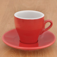"""Cappuccinotasse Nuova Point """"Milano"""" rot, 6 Stk."""