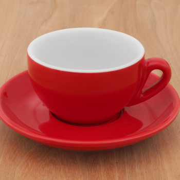 """Cappuccinotasse L Nuova Point """"Palermo"""" rot, 6 Stk."""