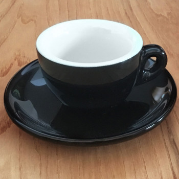"Espressotasse Nuova Point ""Sorrento"" schwarz, 6 Stk."