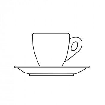 einzelne Espressotasse