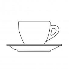 einzelne Cappuccinotasse